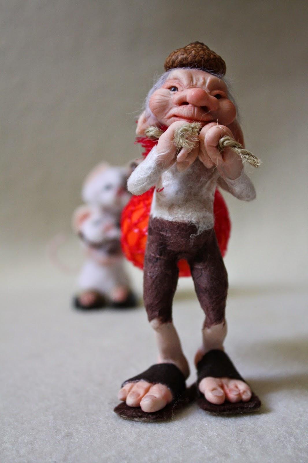 "ooak elf elfo gnomo mice mouse topo topi prosculpt ""living doll"" miniatura"