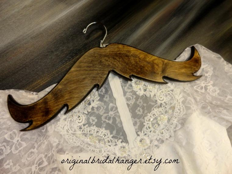 Custom Wedding Dress Hangers 7 Fabulous Wedding Dress Mustache Hanger