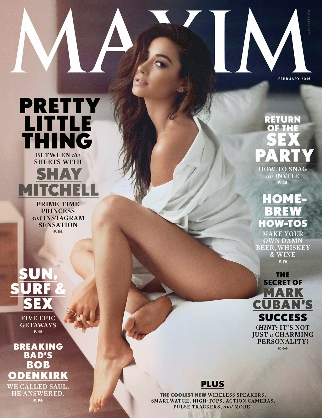 Shay Mitchell - Maxim Magazine, February 2015 Issue