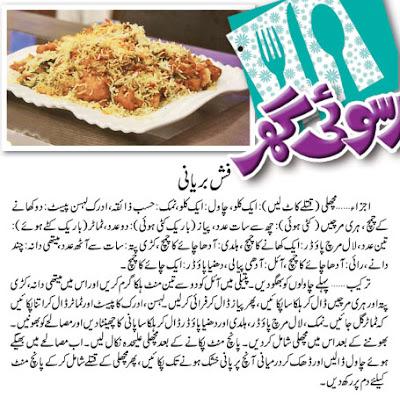 Fish Biryani Recipe in Urdu