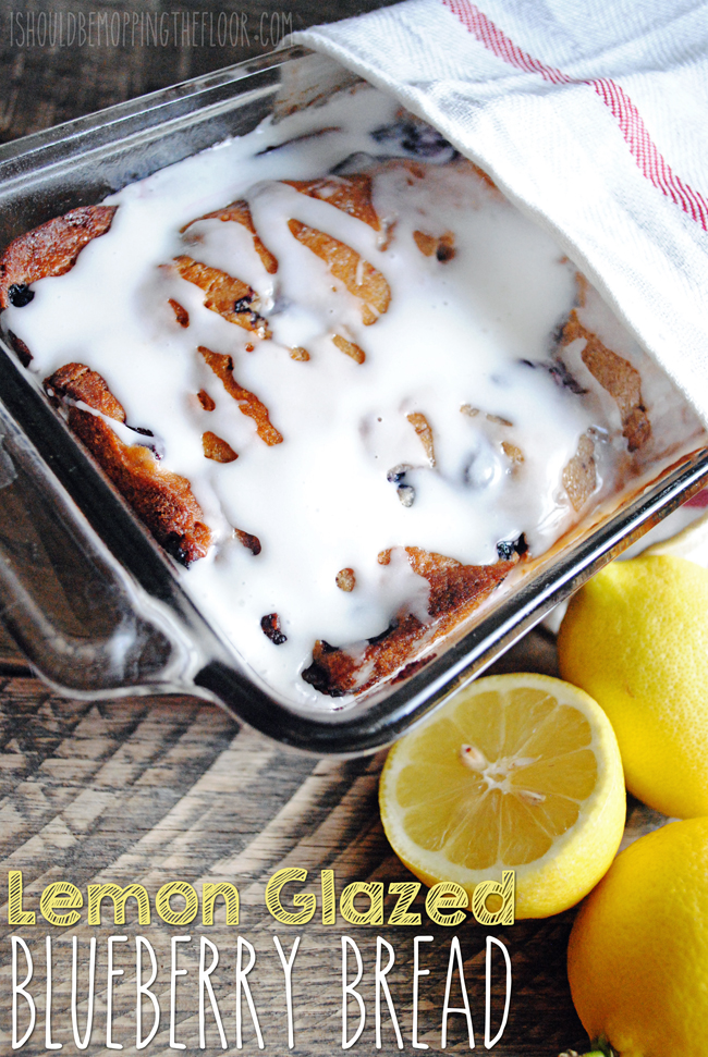 Lemon Glazed Blueberry Bread: DELICIOUS!