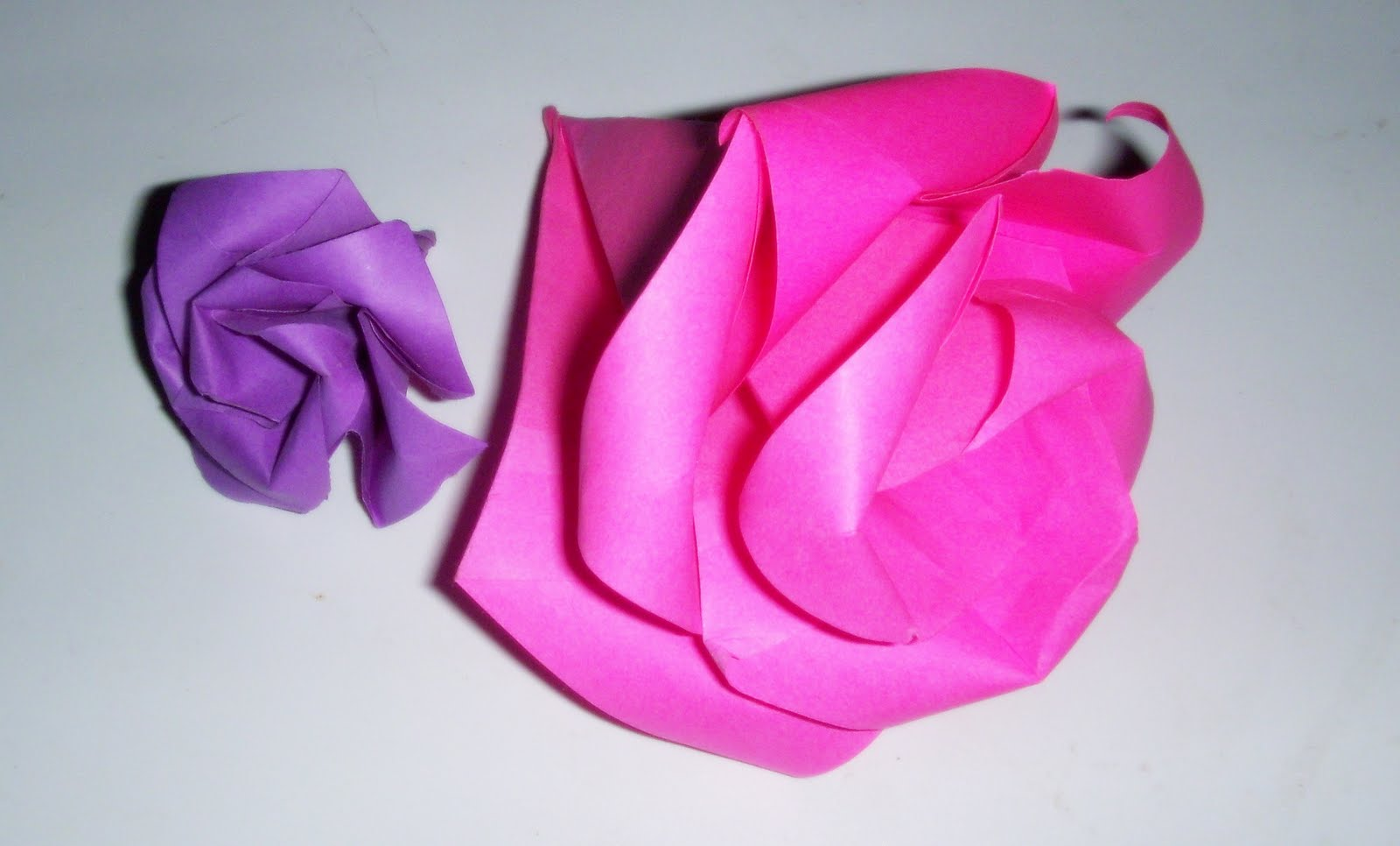 Origami: Origami rose - 1 - photo#46