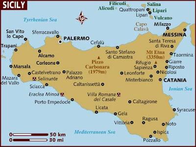 Mappa Regione Sicily