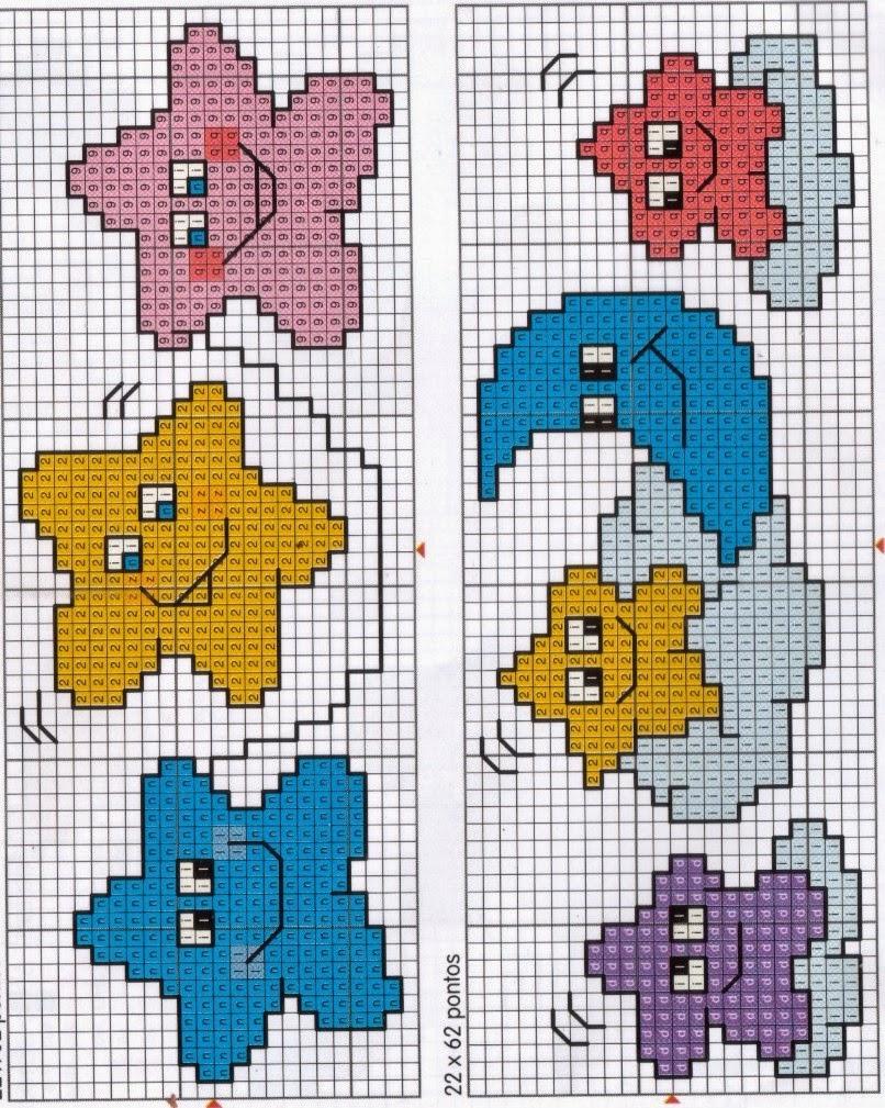 Graficos punto de cruz gratis baberos cenefas canastilla - Dibujos para hacer punto de cruz ...
