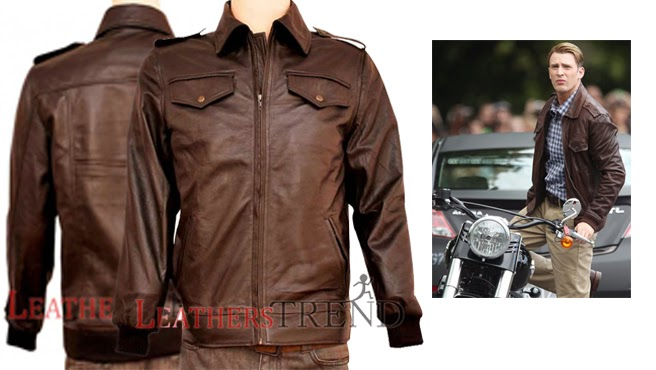steve rogers leather jacket