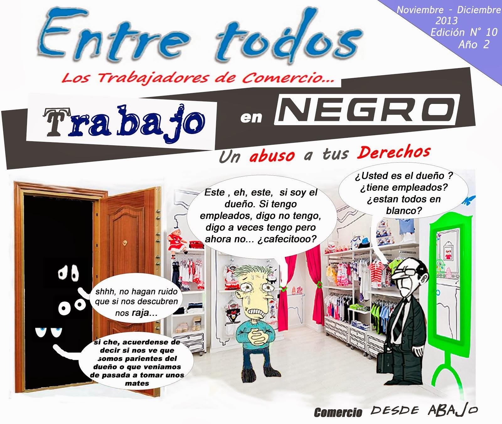 """REVISTA """"ENTRE TODOS"""" .. . los trabajadores de comercio N ° 10"""