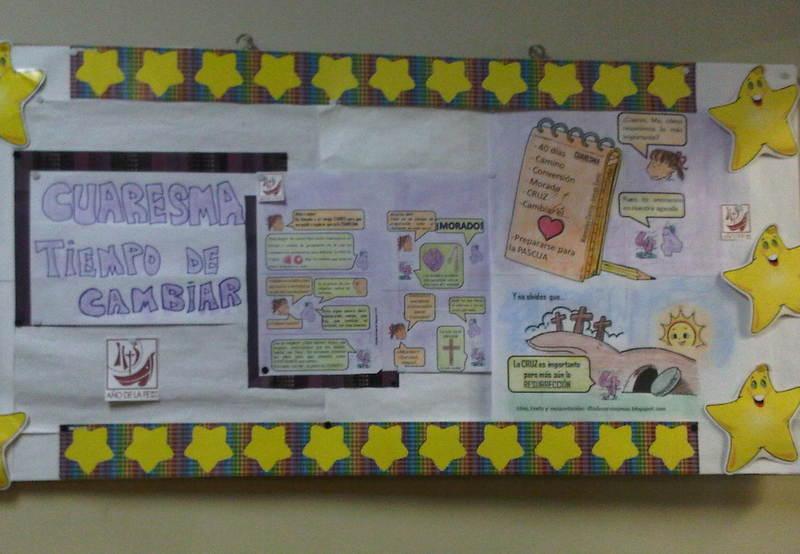 En La Vía Singular de La Vida: Carteleras escolares