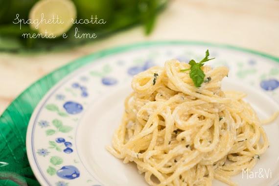 Ricetta spaghetti ricotta menta e lime