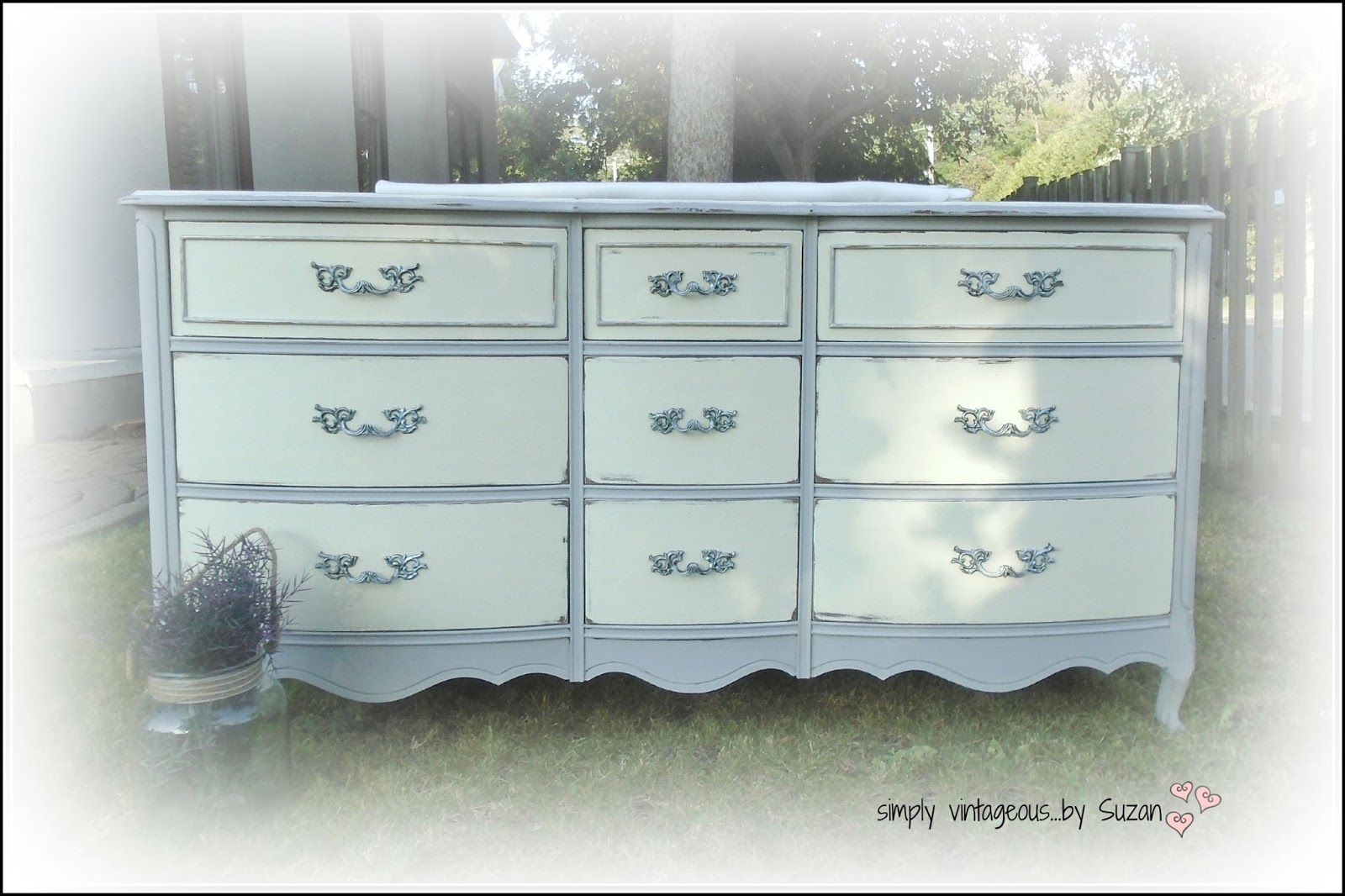 High Quality Painted French Provincial Dresser