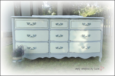Painted French Provincial Dresser