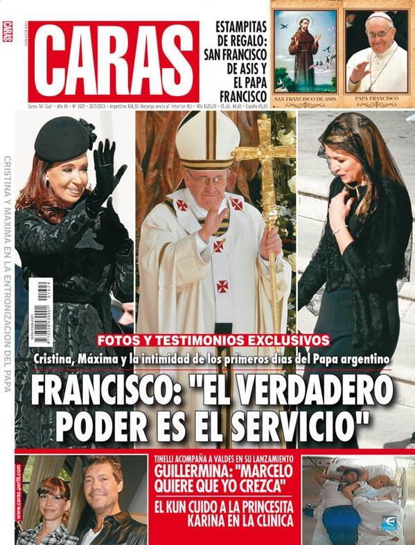 Pasando revista cristina y m xima en la asunci n del papa for Revistas del espectaculo