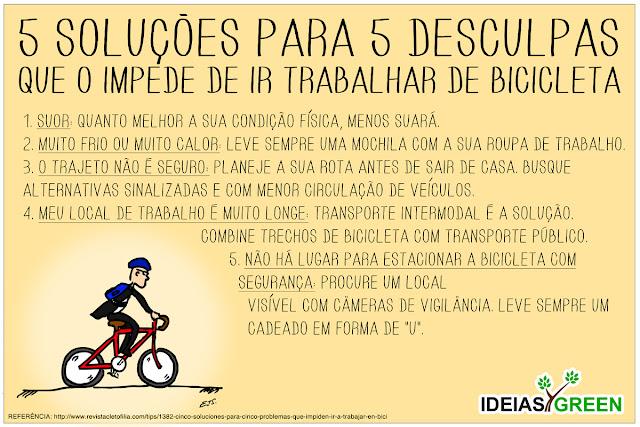 5 soluções para 5 desculpas que o impede de ir trabalhar de bicicleta