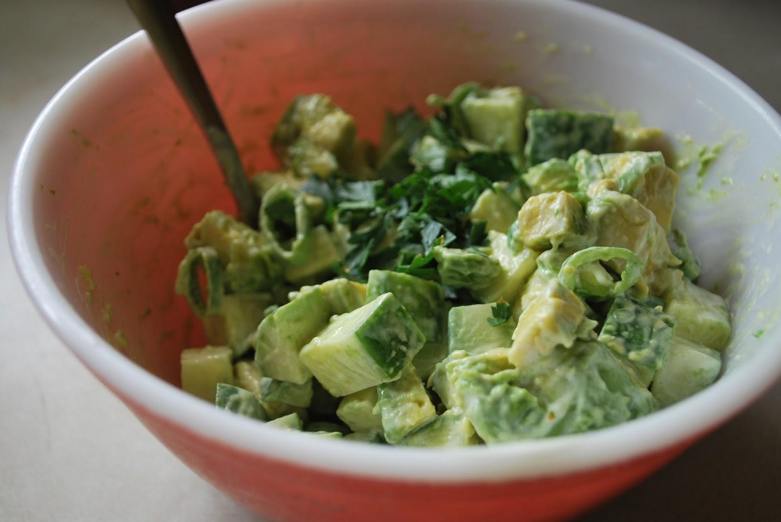 Pie Crust Cookies Avocado Cucumber Salad