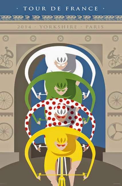 Cycling art blog le tour de france bicyclegifts - Deco tour de france ...
