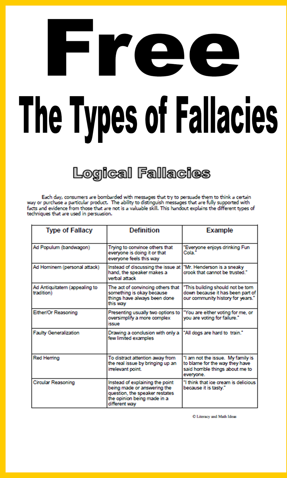 writing types types of fallacies in writing