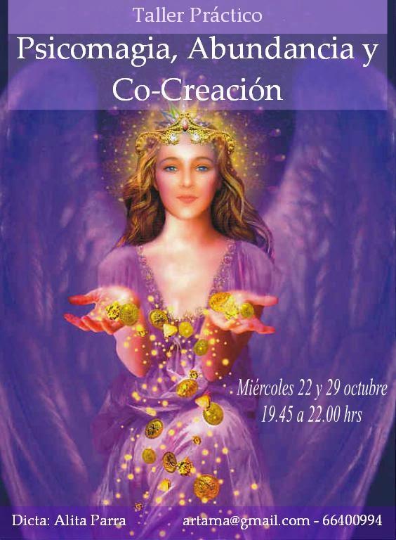 """Curso de Abundancia, Psicomagia y Co-Creacion """"Revela tu Maestría Creadora"""", martes 28/oct y 4/nov"""