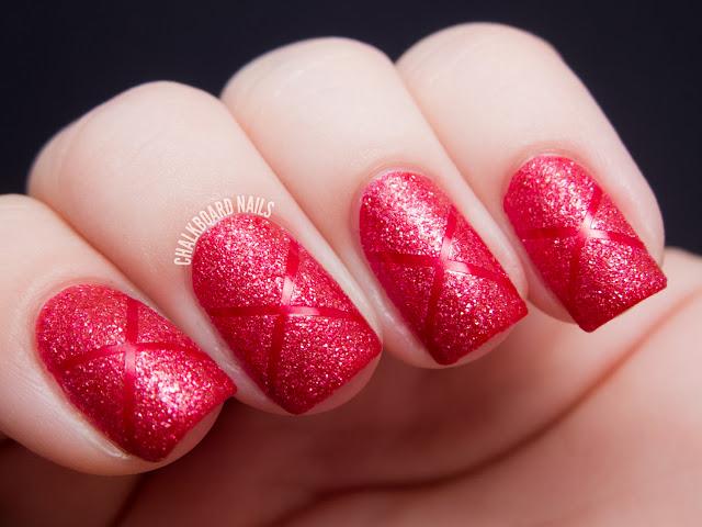 Chalkboard Nails: Couture de Minnie Tape Manicure