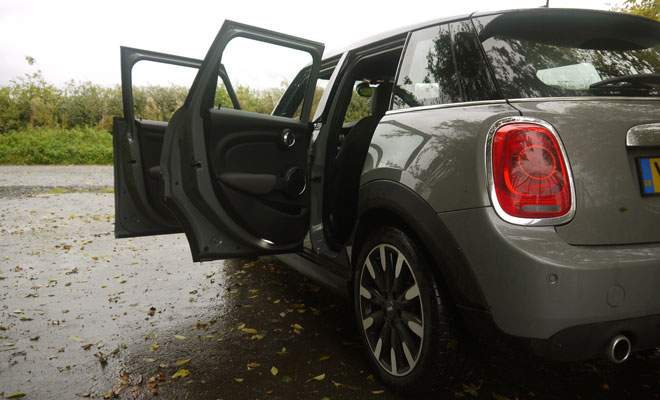 Mini Cooper D five-door open doors