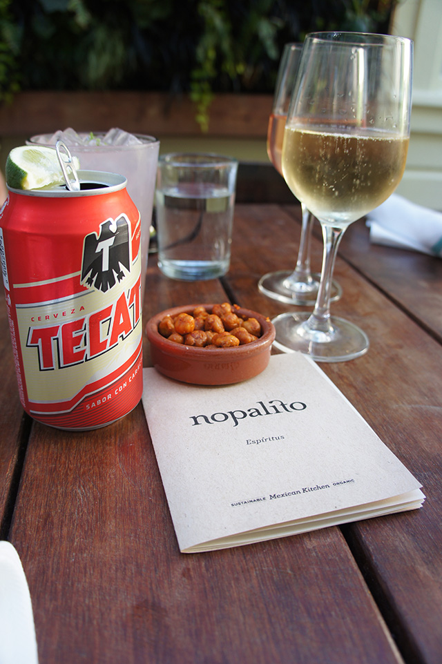 Tecate at Nopalito