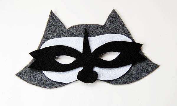 The Craftinomicon: Make Your Own Felt Raccoon Mask Raccoon Eye Mask