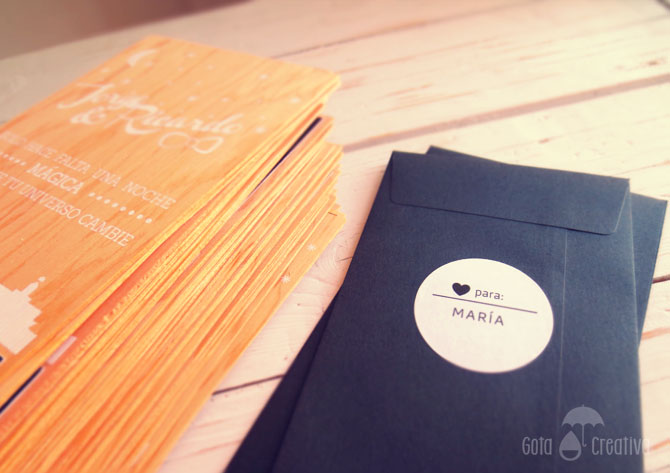 invitaciones boda madera gota creativa