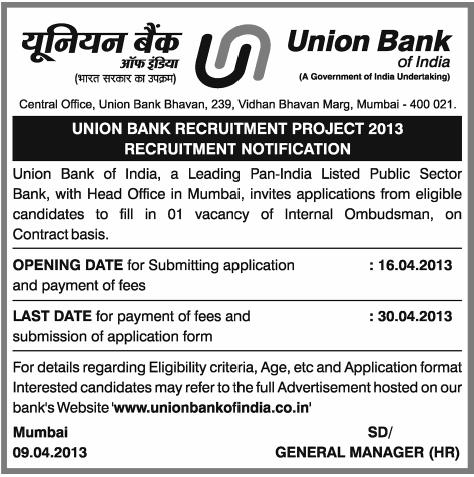 Sbi Back Office Vacancy 2019-20 Job Vacancy, Mumbai ...
