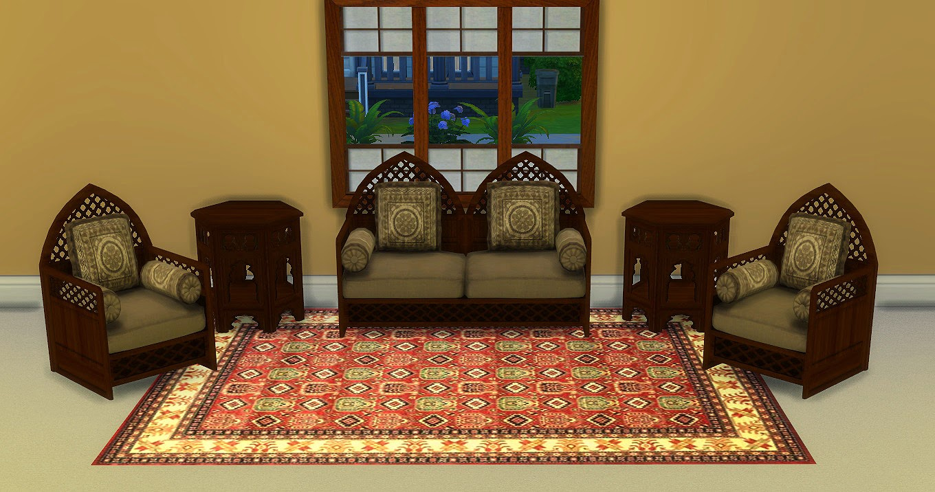my sims 4 blog ts2 moroccan living and bedroom set conversions by