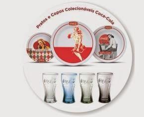 Pratos e Copos Colecionáveis Coca-Cola