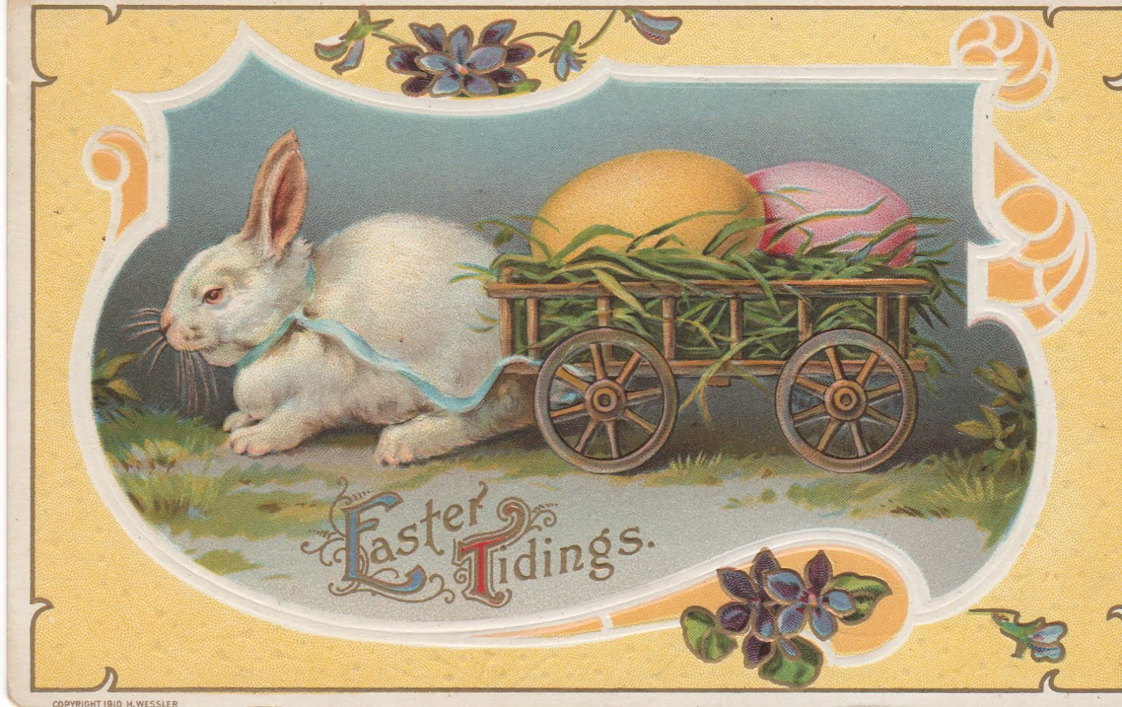 bunnies wallpaper vintage post cards - photo #12