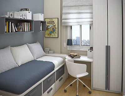 Como decorar quartos pequenos papo de design for Amenagement chambre petit espace