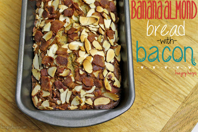 Banana Almond Bread with Bacon in the Loaf Tin