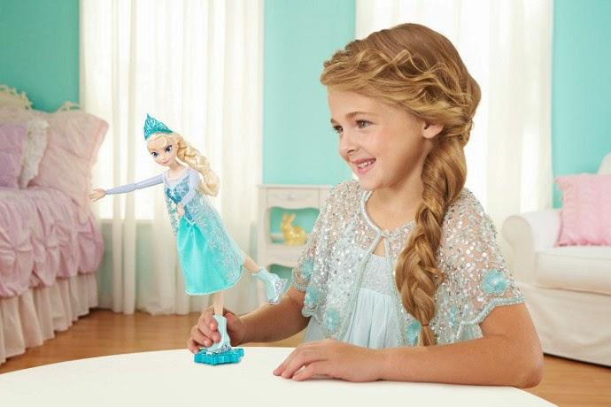 TOYS JUGUETES - DISNEY Frozen  Elsa Patinadora | Muñeca  Ice Skating Elsa Doll  Producto Oficial | Mattel CBC63 | A partir de 4 años