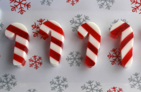candy yule log candy candy cane marshmallows rock candy jelly shooters ...