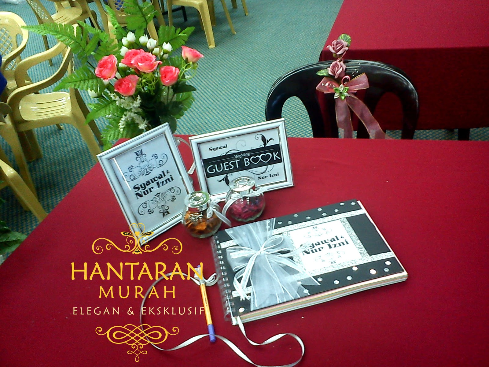 DIY Wedding Guest Book - Syawal & Nur Izni