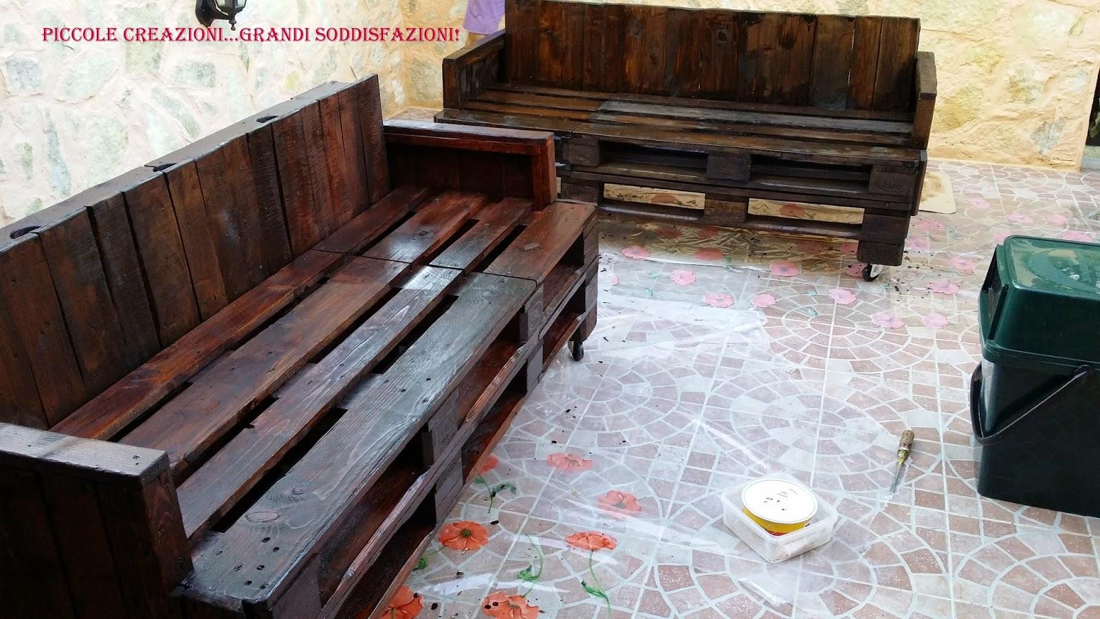 Panche da giardino con pedane epal fatte in casa mobili for Arredamento da giardino con bancali