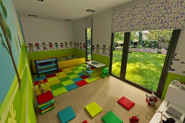 Módulo de jardín ludoteca - Resan Modular - Detalles interior