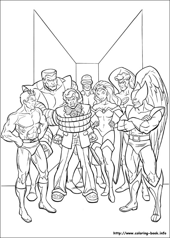 coloring book pages x man - photo#35