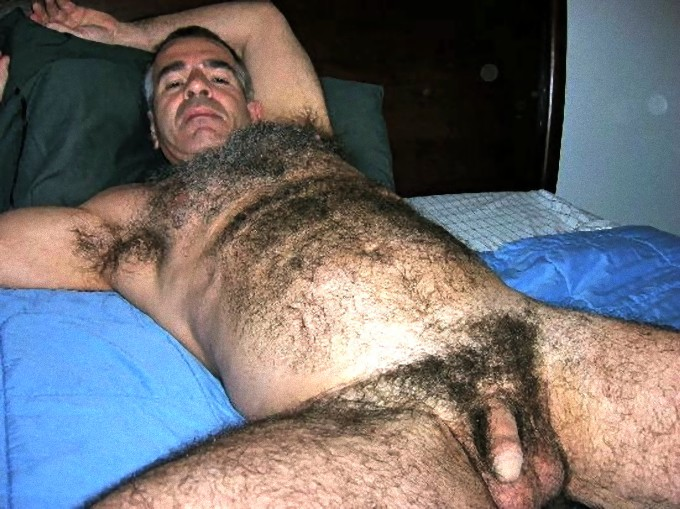 Hairy grandpa gay cock