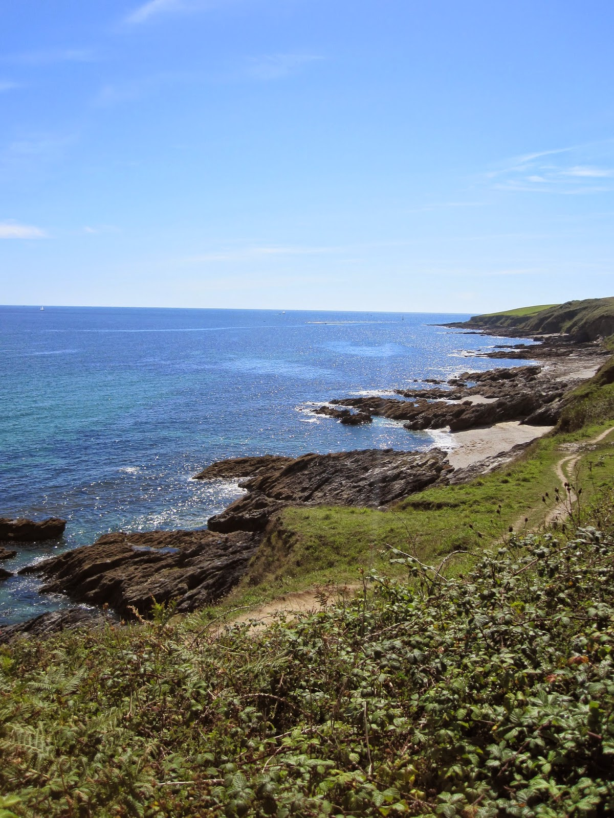 Cornwall coastline - Photograph by A Handmade Cottage
