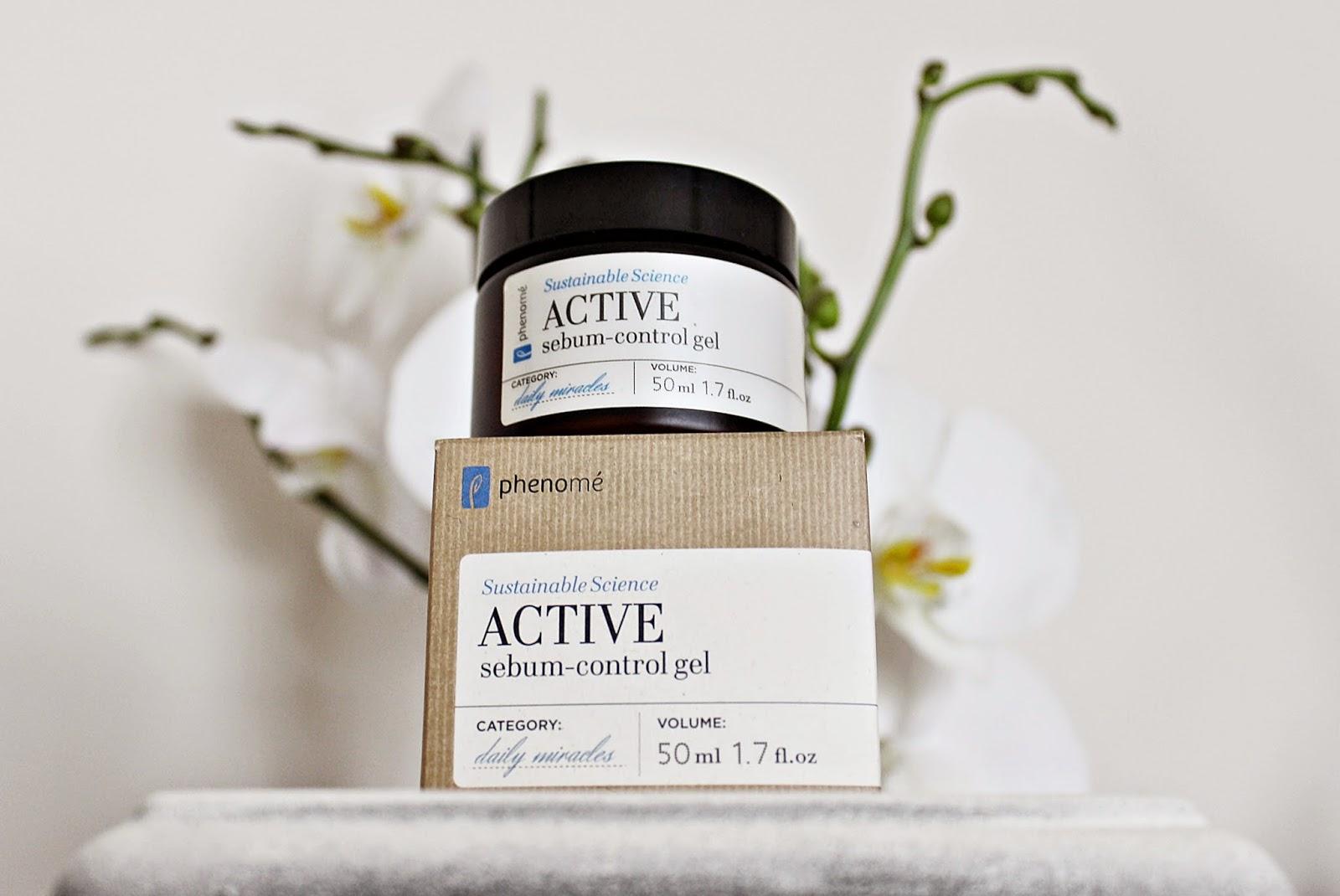PHENOME, Active sebum-control gel, krem do skóry tłustej i mieszanej