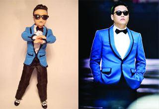 PSY é homenageado com boneco dançando Gangnam Style