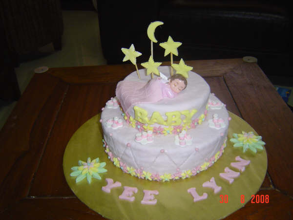 homemade fondant cakes baby shower cakes