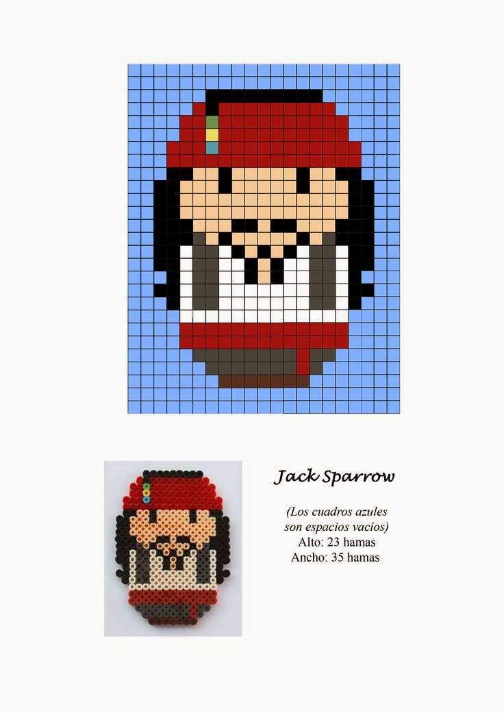 Pirate Hama Beads Pattern post by wememade