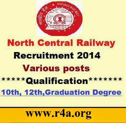 NCR Jobs for Teaching Staff - ncr.indianrailways.gov.in