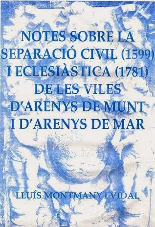 Separació civil i eclesiàstica d'Arens de Munt i d'Arenys de Mar