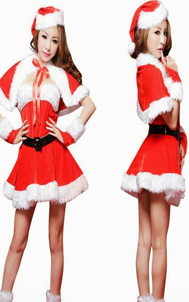 Christmas Lingerie Party Dress Sexy Cute Santa
