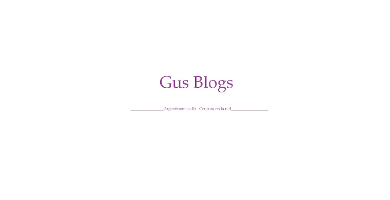 Gus Blogs
