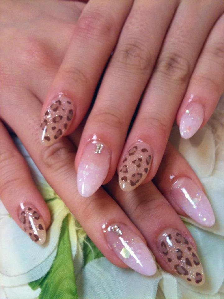 Cute Nail Designs Leopard Pink Mix Nails By Ayano