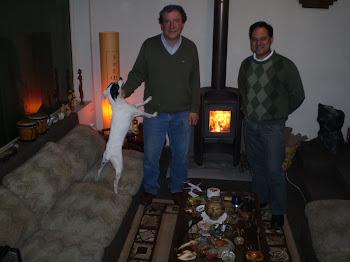 Junto a Pancho Pérez y Trompito