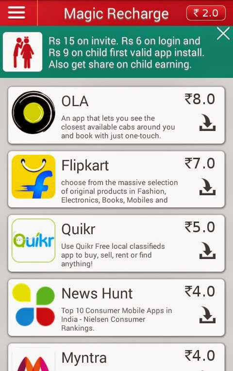 Magic Recharge Free Recharge App - Refer And Earn Rs 15 Per Invite